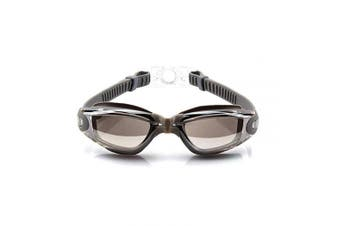 (Adult/Youth, Plating Silver) - AINAAN Glasses, Leaking Anti-Fog Indoor Outdoor Swimming Goggles with UV Protection Mirrored Clear Lenses, Adult/Youth, Plating Silver