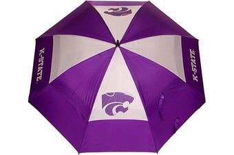 (Kansas State Wildcats) - Team Golf NCAA 160cm Golf Umbrella with Protective Sheath, Double Canopy Wind Protection Design, Auto Open Button