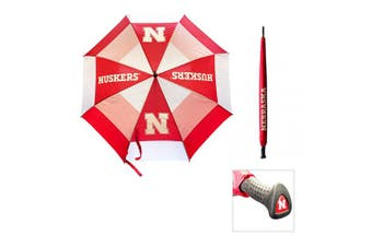 (Nebraska Cornhuskers) - Team Golf NCAA 160cm Golf Umbrella with Protective Sheath, Double Canopy Wind Protection Design, Auto Open Button