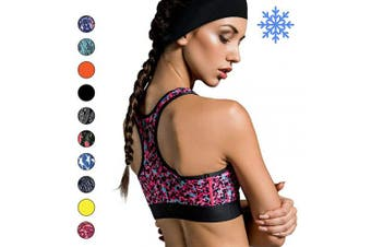 (Orange) - Cooling Headbands for Women & Men | Moisture Wicking Sweatband & Sports Headband | Stay Cool During Workouts Cycling Cardio Running Yoga | Headband for Under Helmets & Hats | CoolCore Technology