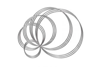 Benvo Metal Rings Hoops 15 Pieces Steel Craft Silver Rings for Dream Catcher, Macrame and Other DIY Projects in 5 Sizes (5.1cm , 7.6cm , 10cm , 14cm , 16cm , Silver)
