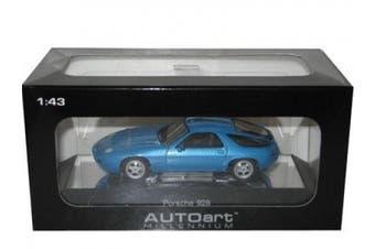 Porsche 928 Blue 1/43 Autoart Diecast Car Model