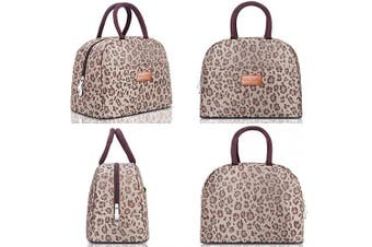 (G-197L Brown Leopard) - BALORAY Lunch Bag for Women Stylish Lunch Tote Bag Insulated Lunch Cooler Bag for Women,Perfect for Work/Picnic (G-197L Brown Leopard)
