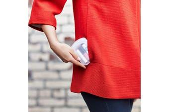 (Pocket, Clear + Aqua) - Stasher 100% Silicone Reusable Bags, Pocket Storage Size, 11cm (120ml), Set of 2, Clear + Aqua