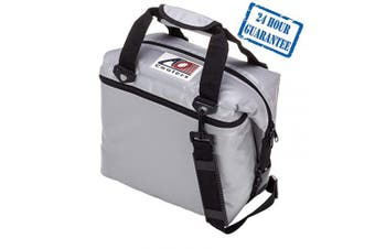 (24-can, Silver) - AO Coolers Sportsman Vinyl Soft Cooler with High-Density Insulation