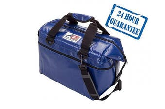 (24-can, Royal Blue) - AO Coolers Sportsman Vinyl Soft Cooler with High-Density Insulation