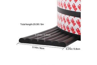 (B-Black) - Cute Cute Jump 9m Edge Guards Baby Proofing Guard Corner Guards Extra Wide Edge Cushion Table Protectors (Black)