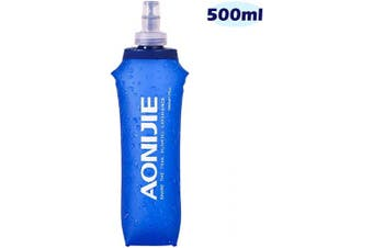(500ml/16.9oz) - Azarxis TPU Soft Flask Running Collapsible Water Bottles BPA-Free Running Flask for Hydration Pack - Ideal for Running Hiking Cycling Climbing