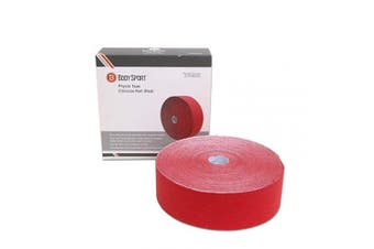 (5.1cm  x 33.5 yds, Red) - Body Sport Physio Tape, Kinesiology Tape to Support Muscles and Joints, Prevent Injury