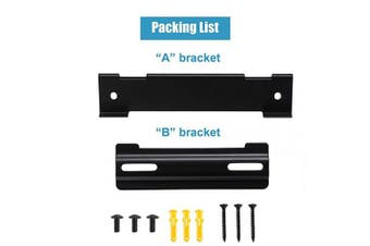 (Black) - Wall Mount Kit for Bose WB-120 SoundTouch Solo 5 Soundbar CineMate 120 Speaker with All Necessary Screws (Black)