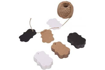(Bracket) - 150ct Kraft Gift Tags Labels with String (3 Colours) (Bracket)