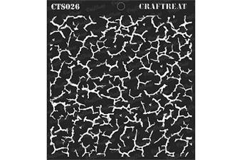 """(Crackle 6""""X6"""") - CrafTreat Texture Crackle Stencils for Painting on Wood, Canvas, Paper, Fabric, Floor, Wall and Tile - Crackle - 15cm x 15cm - Reusable DIY Art and Craft Stencils Crackle - Texture Templates"""
