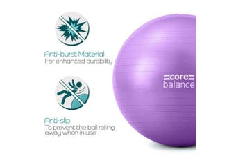 (85cm, Purple) - Gym Ball Exercise Fitness Yoga Pregnancy Anti Burst 55cm 65cm 75cm 85cm Pump
