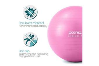 (55cm, Pink) - Gym Ball Exercise Fitness Yoga Pregnancy Anti Burst 55cm 65cm 75cm 85cm Pump