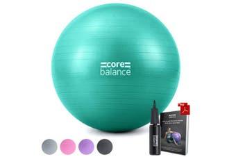 (75cm, Teal) - Gym Ball Exercise Fitness Yoga Pregnancy Anti Burst 55cm 65cm 75cm 85cm Pump