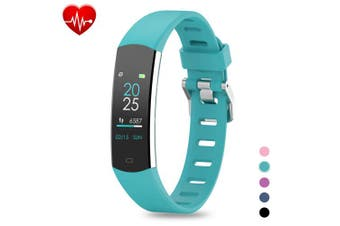 (Green) - BingoFit Kids Fitness Tracker, Slim Sports Activity Tracker with Heart Rate Monitor Waterproof Pedometer Watch with Sleep Monitor, Step Counter, Calorie Counter GPS Sports Watch for Women Men Kids
