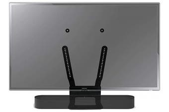 (BEAM-TV, Black) - ProCustom TV Mount for Sonos Beam | For use with fixed and pivoting TV brackets | Fits all VESA mounting sizes | Made in the UK by ProCustom (Black - Mounted on TV)