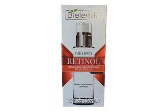 BIELENDA NEURO RETINOL ADVANCED moisturising FACE SERUM DAY/NIGHT DERMATOLOGICALLY TESTED 30ml