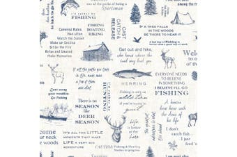 North Hills Navy Camping Quotes Wallpaper