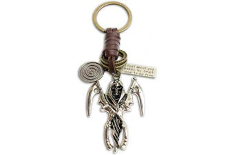 (Reaper) - AuPra Reaper Leather KeyRing Gift Women & Men Best Friend Home Punk KeyChain Mum & Dad Teacher Handbag Charm Key Ring Girl & Boy Car Pendant