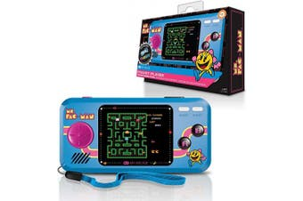 (Ms. Pac-Man) - My Arcade Ms. Pac-Man Pocket Player - Portable Handheld Gaming System - 3 Retro Games Included - Ms. Pac-Man, Sky Kid, and Mappy - Licenced Collectible