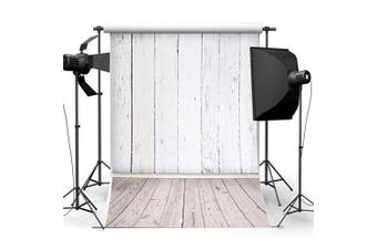 (1.5m X 2.1m, D0132) - FLORATA 1.5m x 2.1m Vinyl Photography Background Photo Backdrops Wood Floor Props Collapsible Backdrop Studio Props White and Grey