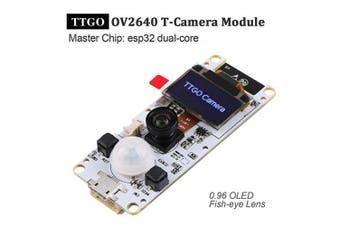 ESP32 Camera Module TTGO T-Camera ESP32 WROVER PSRAM Camera Module 4MBytes SPRAM ESP32-WROVER-B OV2640 Camera Module with 2.4cm OLED-Fish-Eye Lens
