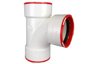 (7.6cm , 1, White) - Charlotte Pipe CTT 00400 1200 Connectite Sanitary Tee, PVC, 7.6cm , White