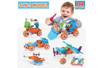(132) - ACTRINIC 132PCS Educational Toys learning Toys for 3 4 5 6 7 8 9+Years Old Best gift for Boys and Girls toddlers Kids age 4 5 6 7 8 9 10+Year Old