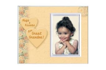 Hugs And Kisses for Great Grandma - Picture Frame Gift