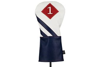 (White/Navy/Red, Driver) - Callaway Unisex Vintage Golf Club Headcovers