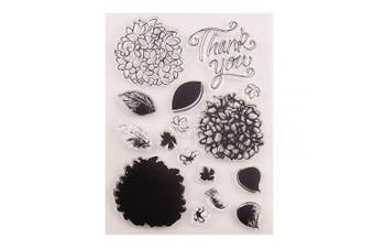 Thank You DIY Flowers Leaves Stamp Rubber Clear Stamp/Seal Scrapbook/Photo Album Decorative Card Making Clear Stamps