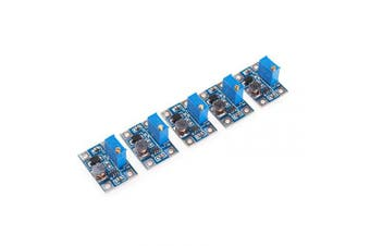 ANGEEK 5pcs DC-DC SX1308 Step-UP Adjustable Power Module Step Up Boost Converter 2-24V to 2-28V 2A Step-Up Module Automatic Protection for DIY Kit
