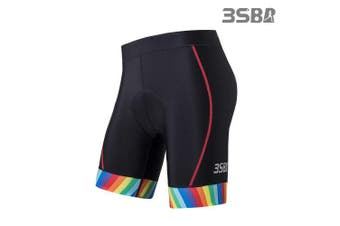 (Medium, Anti Slip Black) - 3SB Triathlon Shorts, Women's Tri Shorts, Padded, Butterfly, for Bicycle Training