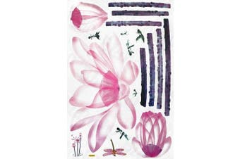Pink Lily - X-Large Wall Decals Stickers Appliques Home Decor