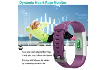 (Purple) - YAMAY Fitness Trackers,Fitness watch with Heart Rate Monitor Waterproof IP67 Smart Watches Pedometer Watch Activity Trackers Watch Step Counter for Kids Women Men Call SMS Push for iOS Android Phone