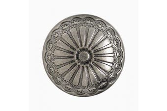 (Gray Silver) - Bezelry 12 Pieces Cactus Flower Metal Shank Buttons. 20mm (3/4 inch) (Grey Silver)