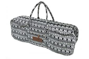 (Parade) - All-in-one Yoga Mat Bag with Pocket and Zipper - Patterned Canvas
