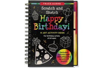 Happy Birthday! Scratch and Sketch Tracealong: An Art Activity Book for Birthday Artists of All Ages