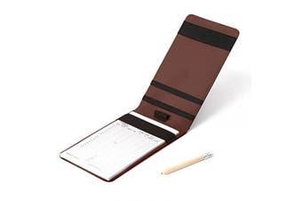(Brown) - Tuzama Professional Golf Scorecard Holder Yardage Book Holder with Scorecard and Pencil Multi-Colour