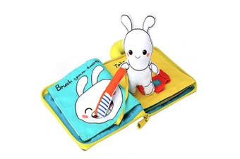 (Rabbit) - Animal Theme My Quiet Books - Soft Activity Books for Baby /Toddler Learning Story Book Life Education, Learning to Sensory Book & Identify Skill Boys and Girls, Baby Book , Cloth Book (Rabbit)