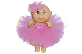 Cabbage Patch Kids 23cm Dance Time Girl, Green Eyes, Pink Tutu