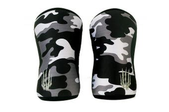 """(7mm - Medium 11.5""""-13.5"""", Black Camo) - Bear KompleX Compression Knee Sleeves, Fitness & Support for Workouts & Running. Sold in Pairs-Crossfit Training, Weightlifting, Wrestling, Squats & Gym Use. 5mm & 7mm Thick, Multicolor for Men & Women"""