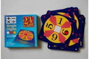 (Basic Pack) - 24 Game: 48 Card Deck, Single Digit cards Math Game
