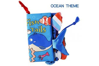 (Ocean) - beiens Ocean Theme My Quiet Books - Soft Activity Books for Baby /Toddler Learning Story Book Life Education, Learning to Sensory Book & Identify Skill Boys and Girls, Baby Book , Cloth Book