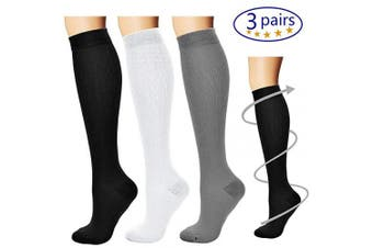 (Large/X-Large, Assort9) - Bluemaple Compression Socks for Women & Men - Best for Running, Athletic Sports, Crossfit, Flight Travel -Maternity Pregnancy, Shin Splints - Below Knee High