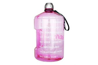 ( 3.8l, Light Pink) - BuildLife 3.8l Water Bottle Motivational Fitness Workout with Time Marker/Drink More Daily/Clear BPA-Free/Large 3790ml 2160ml 1270ml Capacity