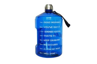 ( 3.8l, Blue) - BuildLife 3.8l Water Bottle Motivational Fitness Workout with Time Marker/Drink More Daily/Clear BPA-Free/Large 3790ml 2160ml 1270ml Capacity