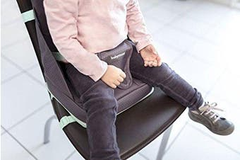 Babymoov Up And Go Feeding Booster Seat - Ultra-Compact Adjustable, Foldable and Portable Booster with Carrying Handle