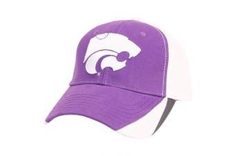 (Kansas State Wildcats (Tri-Color)) - Captivating Headgear NCAA Adult Baseball Cap Adjustable Hat